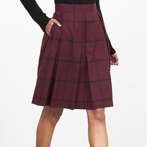 Banana Republic Plaid checkered pleated 12 skirt